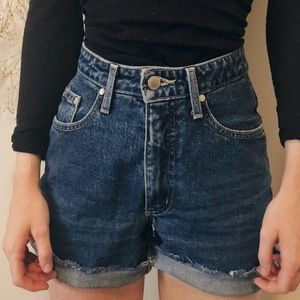 Vintage Denim High Wasted Shorts